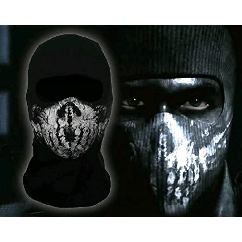 Coxeer Ghost Pasamontañas Face Skull Mask Capucha Biker – Tabla de skate (cosplay Cod de Call of
