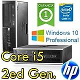 PC HP Compaq 8200 Elite Core i5-2400 3.1GHz 4Gb Ram 500Gb DVD SFF Windows 10 Professional (Ricondizionato Certificato)