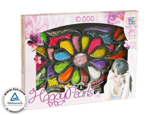 Imagen principal de Happy People 63743 - Set de cuentas para pulseras (10.000 cuentas de colores) [Importado de Alemania]