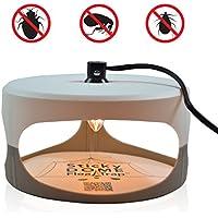 ASPECTEK Trampa Inteligente para Pulgas, Atraer a la Pulgas con Calor y Luz + 2 Discos Adhesivos, Eficaz contra Pulgas, Mosquitos y Otros Insectos Pequeños