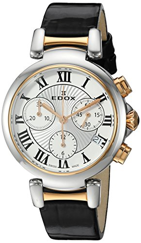 Edox Women's 10220 357RC AR LaPassion Analog Display Swiss Quartz Black Watch