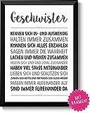 Die besten Schwester-Geschenke - GESCHWISTER Bild mit Rahmen - Geschenk Geschenkidee beste Bewertungen