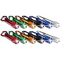 Schramm® 12er Pack Schlüsselanhänger Taschenlampe 6cm Alu mit Karabiner Mini LED-Taschenlampe Lampe