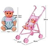 Play baby Buggy zu senden ein blinkender Puppe, mamum My First Doll Buggy & Baby Spielzeug Precious Toys faltbar mit Kapuze Geschenk für Mädchen