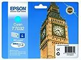 Epson T7032 Tintenpatrone Big Ben, Singlepack cyan