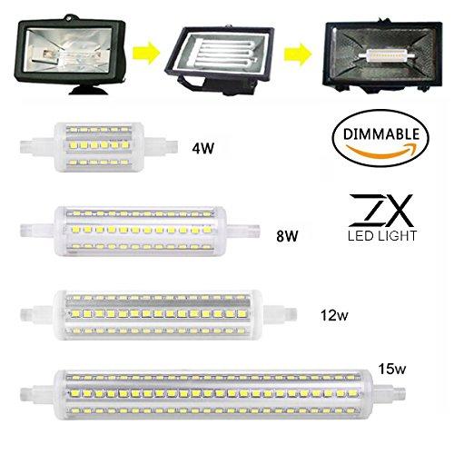 Preisvergleich Produktbild ZX dimmbar R7s 4 W 8 W 12 W 15 W 360Degree LED Leuchtmittel REPLACE Halogen Lamp Leuchtmittel AC85 - 265 V
