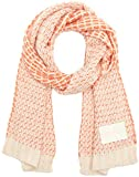 Calvin Klein Damen Schal J Mary Heavy Knit Scarf Rosa (Soft Pink/Powder White/Wild Orange 908) One size