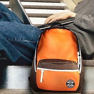 Surelaptop 14-15.4 inch Nylon Coffee Orange Multi-color Laptop Notebook Backpack