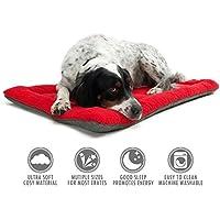 Chaud et Classique Tapis pour animaux de compagnie, Coussin doux pour animaux de compagnie Coussin pour lit de chien Couvre-matelas Matelas confortable Fournitures Rouge