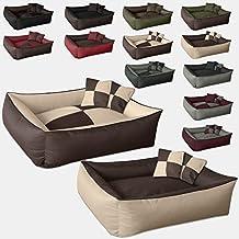 BedDog 2 en 1 colchón para perro MAX QUATTRO XL, 6 colores, cama para perro, sofá para perro, cesta para perro, beige/marron XL