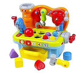 Early Education - Juego de herramientas de plástico para bebé, 18 meses de edad, para niños y niñas