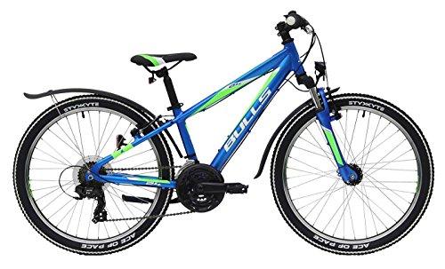 Kinderfahrrad 24 Zoll blau - Bulls Tokee Street Mountainbike - Shimano 18 Schaltung 18 Gänge, Licht (Blauer Street Damen Gang)
