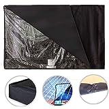 AUTOECHO Outdoor-TV-Abdeckung mit 22-65 Zoll große Schwarze Transparente Folie Sichtbare Wasserdichte TV-Abdeckung und staubdichtes Material Umweltfreundliche PVC-Oxford-Tuch Durable Cover für TV