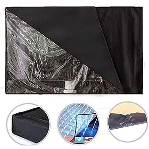 iBaste Copertura Nera impermeabile per Televisore - Custodia Copri TV Televisione Esteriore Universale Cover per LED OLED LCD PLASMA
