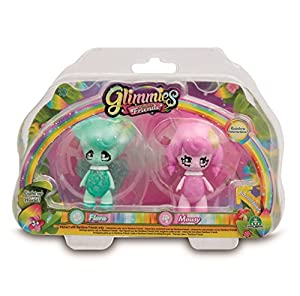 Glimmies - Serie 2 Blister 2 Figuras Flora + Mousy (Giochi Preziosi GLN01000)