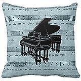 babyssj manta almohadas 18x 18pulgadas GRAND Piano Azul Hoja Música funda de almohada