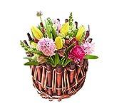Handmade Woven Hanging Basket mit Rattan-Korb Weide Korb Flower Pot Rustic Rattan Korb für Zuhause, Garten-, Wand Dekoration 15 * 6cm