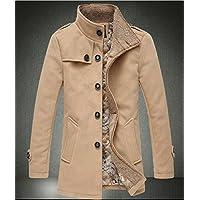 YCMDM cappotto del cotone del cappotto di inverno nella sezione lunga Yards di grandi dimensioni più velluto MEN spessi , khaki , l