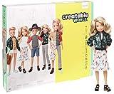 Creatable World Figura Unisex, muñeco articulado, pelucas rubio platino y accesorios (Mattel GGT67)