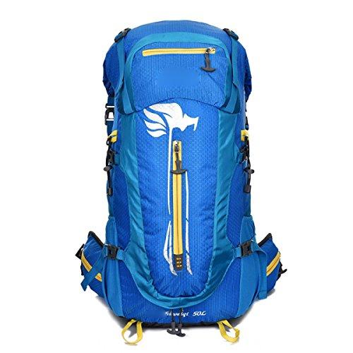 Outdoor Bergsteigen Tasche Rucksack Große Kapazität Reisebeutel Wandern Rucksack,Orange Blue