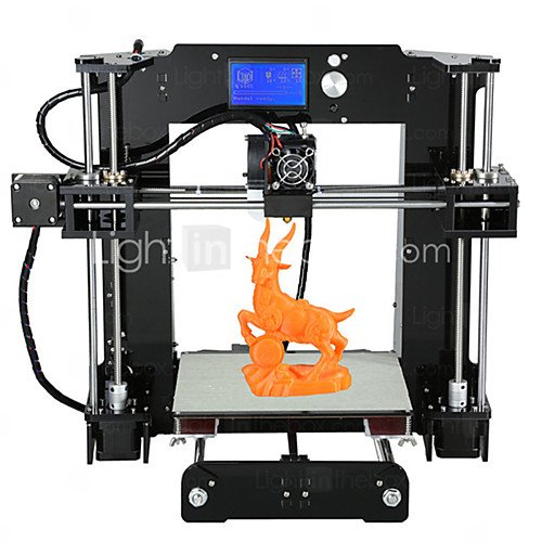 Price comparison product image Anet A6 3D Printer DIY Kit Set with High Precision Self Assembly Big Size Heatbed,  2004 LCD Screen Display,  TF Card Off-line Printing Function (220 x 220 x 250mm)