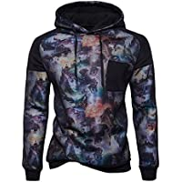 Sudadera con capucha con cordon de invierno estilo Mens jersey de manga larga,Black,M
