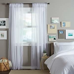 pinzon by amazon paire de voilages transparents coulisse. Black Bedroom Furniture Sets. Home Design Ideas