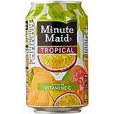 Minute Maid Pack de 6 cannettes Tropical 33 cl - Lot de 2