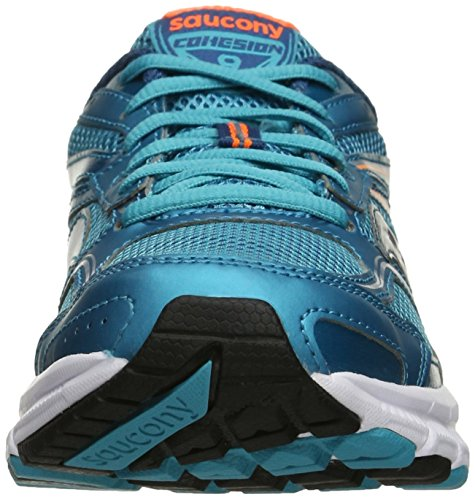 Saucony - Grid Cohesion 9 W 2016/2017 - Scarpe Running - Gry/Blu/Ctn - S15262-5 Light Blue Deep Orange
