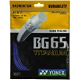 Yonex BG 65 Titanium 0.70 mm Badminton String - 10 m