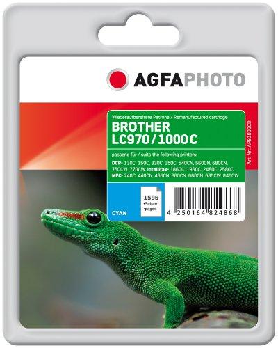 Preisvergleich Produktbild Agfaphoto APB1000CD LC1000C 10PACK Tintenpatrone