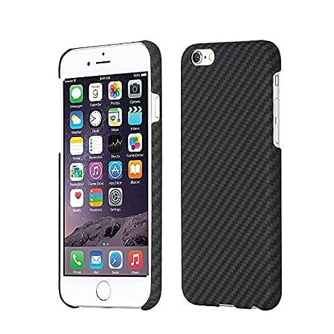 Kevlar iPhone 6 Coque/iPhone 6s Case-LEAPCOVER ®, Performance, Bulletproof Matériaux Aramide 0,7 mm Ultra-thin Environnement Amical Couvercle Compatible pour Apple iPhone 6/6s(4.7in-ch) (Noir et