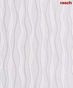 Rasch 547207 Papier Peint en relief Motif avec Structure longitudinale Blanc classique (Import Allemagne)