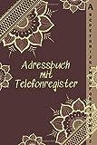 Adressbuch mit Telefonregister: Telefon & Adressbuch mit A-Z Register - A5 (Adressen, Telefonnummern, Mailadressen,Geburtstage & Jahrestage).