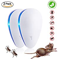 (2018 Upgrade) Ultrasonic Pest Repellers, Pest Repeller Plug, Pest Control Ultrasonic, Repel Mice and Pests Effectively, Portable, Environmentally Friendly, Two-chip (2 Pack)