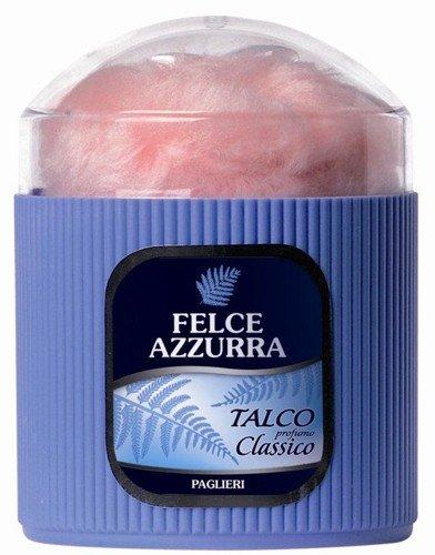 Felce Azzurra–Körperpuder Klassische Dose 250gr + Daunen