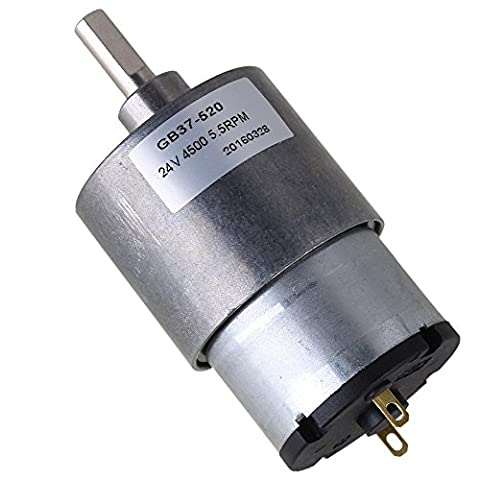 CNBTR 37mm 5.5RPM Reduce Speed 24v Miniature Electric DC Geared Motors with Metal Gear Box for Automatic Actuator