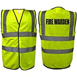Fire Warden Hi Vis Vest | Yellow High Visibility Health Safety Viz EN471 0343