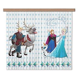 Disney AG Design Frozen Kids Curtains 3D Photo Print - 2 Parts FCSXL 4370, Multi-Colour, 180 x 160 cm/71 x 63-Inch