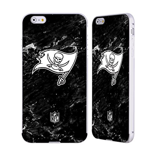 Ufficiale NFL Pattern 2017/18 Tampa Bay Buccaneers Argento Cover Contorno con Bumper in Alluminio per Apple iPhone 5 / 5s / SE Marmo