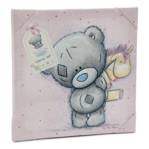 me-to-you-tiny-tatty-teddy-wandbild-keilrahmen-rosa