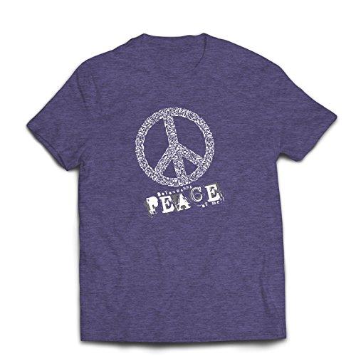 st Du Stück von Mir - Frieden Slogan, 60er 70er Hippie - Hippie Festivals, Hipster Swag (X-Large Heidekrautgrau Mehrfarben) (Suche Kostüm Ideen)