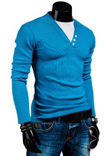 ACS Longsleeve Langarm Sweatshirt Pullover Slim Fit 0004 Türkis