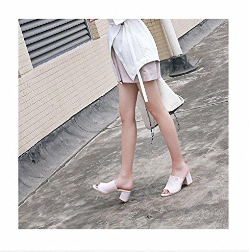 Sommer Sandalen Frauen in ungezwungenen und bequemen Schuhen mit Sandalen Frauenschuh Pink