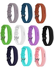 everacttmreplacement bandas para Fitbit Flex 2(3/10unidades) watch-type hebilla diseñado banda, color 10 Pack