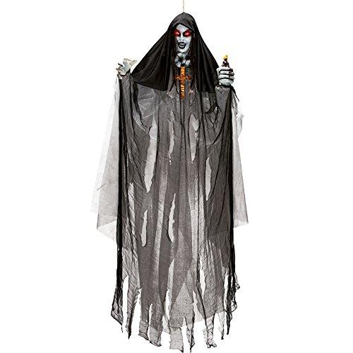 Carnival Toys 8903 Hängender Vampir mit Sound und Licht, 170 cm, one (Child Perücke Vampir Black)