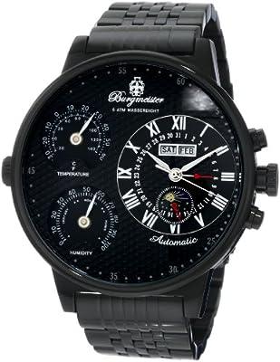 Reloj de caballero Burgmeister Montana BM309-622 automático, correa de acero inoxidable color negro de Burgmeister