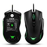 IKARY Combaterwing CW10 4800 DPI Wired Gaming Mouse Mice 7 Buttons Design 6 Breathing LED Colors Changing High Precision for Gamer PC MAC (black)