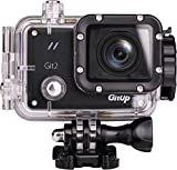 Gitup GIT2 2K 1080P HD Vedio WIFI Sports Action Outdoor Camera G Sensor Pro Packing with Protective Waterproof Case 2 Batteries Mounts Pack Black