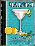 Martini glas und Rezept. Zitrone, limetten, gin, oilve. Nicht a wodka, james bond einem Klassisch cocktail gedränk Metall/Stahl Wandschild - 9 x 6,5 cm (Magnet)